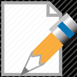 change, document, edit page, modify, pen, pencil, sign icon