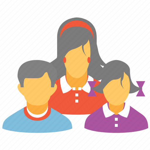 group, human family, kids, love, people, users, woman icon