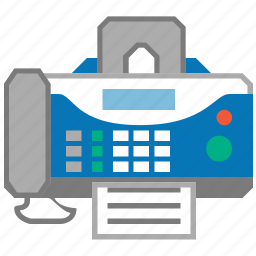 device, equipment, fax machine, faxing, message, phone, telephone icon
