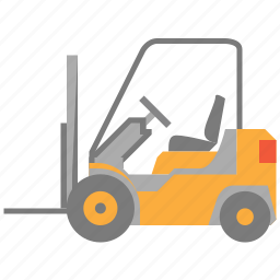 cargo, fork lift, forklift truck, freight, shipping, transportation, warehouse icon