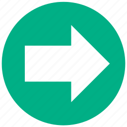 arrow, continue, direction, move, next, pointer, right icon