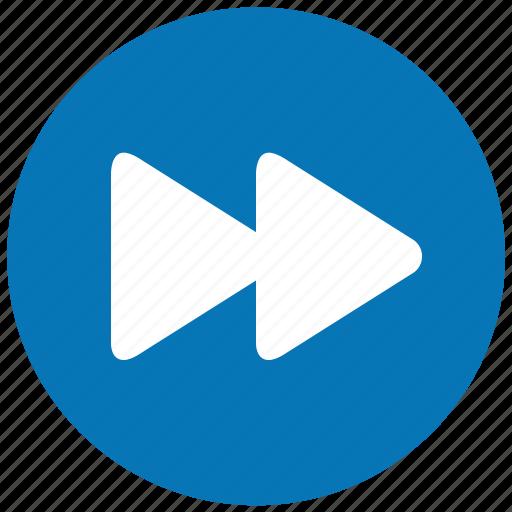 arrow, fast forward, following, forward, future, next track, right icon