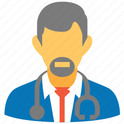 clinic, doctor, head physician, medical boss, medicine, practitioner, stethoscope icon