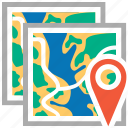 cartography, gps, location, map, maps, navigation, travel icon
