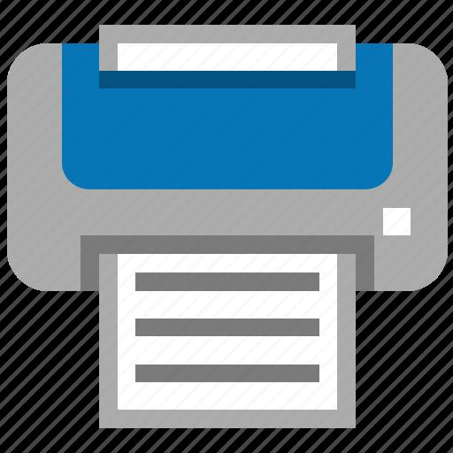 hardcopy, output, print documents, print files, printer, printing, publish icon