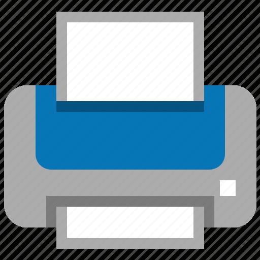 hardcopy, hardware, output, print files, printer, printing, publish document icon