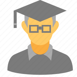 academic degree, academician, graduation cap, lecturer, professor, teach, teacher icon
