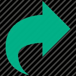 arrow, edit, following, next, redo, right, rotate icon