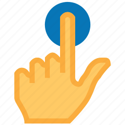 click, cursor, finger, index pointer, point, press button, touch icon