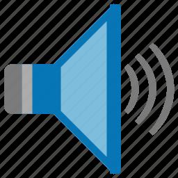 audio, louder, loudspeaker, music, sound control, speaker, volume icon