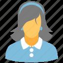 brunette, female, girl, lady, profile, user, woman