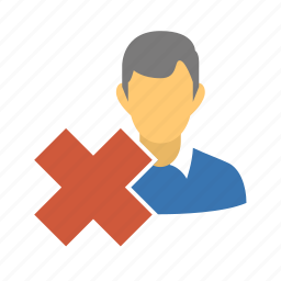 cancel, close, delete, delete person, delete profile, delete user, kill, profile, remove, remove client, remove friend, remove person, remove user, user icon