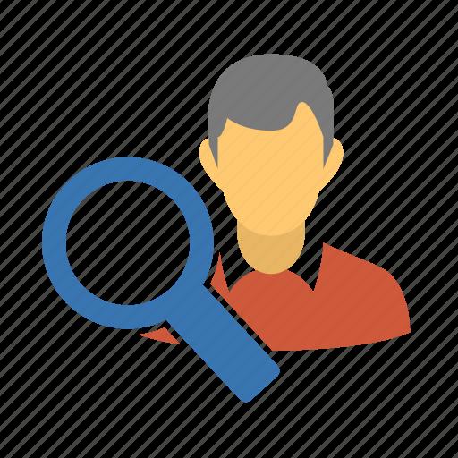 audit, explore, explore profile, find, find user, locate, locate user, lookup, search, search profile, search user, user, view profile, view user, zoom icon