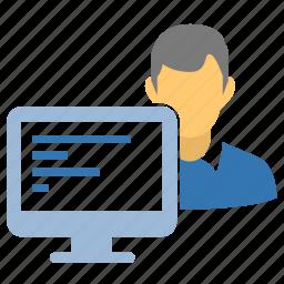 advanced user, computer user, designer, developer, guru, hack, hacker, hacking, profile, programmer, skull, spy, thief, user, web designer icon