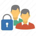 lock, users, secure, group, private group, people, private, closed group, locked users, password, security, friends