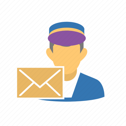 carrier, mail, mailman, packet, postman icon