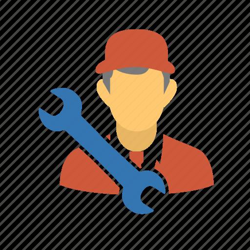 male, man, mechanic, plumber, repair, repair profile, repairman, service, serviceman, user icon