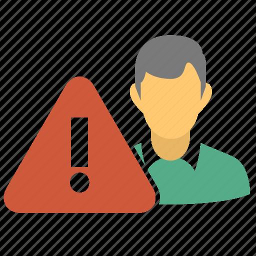 black list, blacklist, blacklisted, error, male, man, problem profile, problem user, user, user error, warning icon