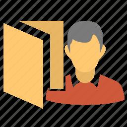 about user, folder, male, man, user, user data, user folder, user info, user profile icon