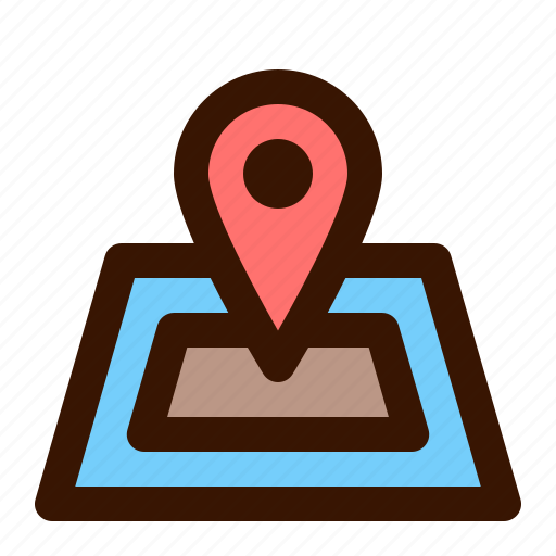 gps, location, map, pin, place, travel icon