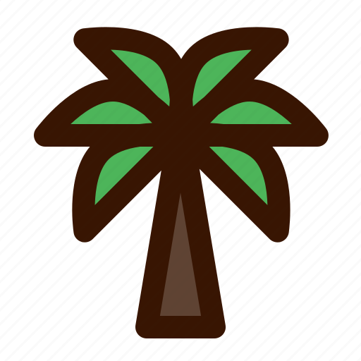 beach, palm, seashore, summer, tree, vacations icon