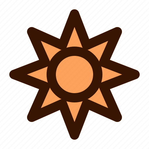 day, hot, star, summer, sun, sunny, vacation icon