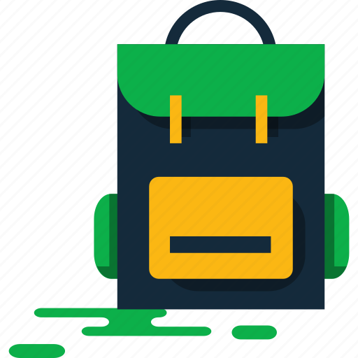 backpack, summer, trip icon