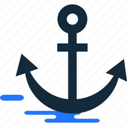 anchor, ship, summer, travel icon