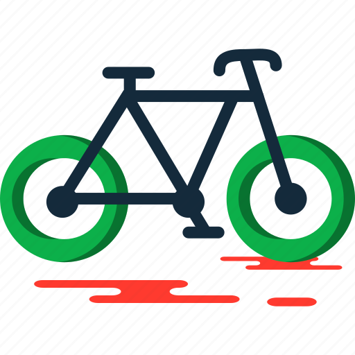 bicycle, summer icon