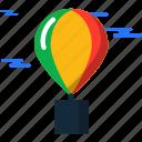 air, balloon, hot, summer, travel icon
