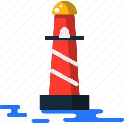 lighthouse, summer icon