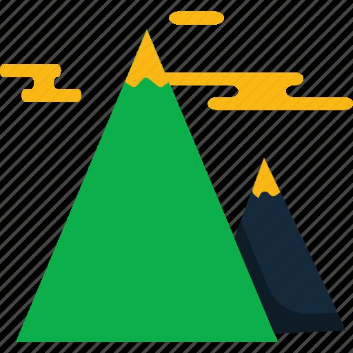 mountains, travel icon