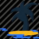 palm, summer, tree icon