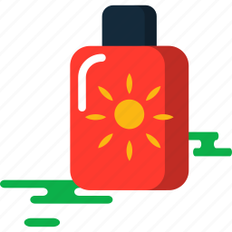 cream, summer, sun icon