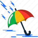 summer, umbrella icon