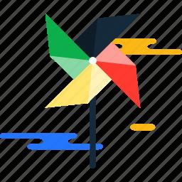 summer, windmill icon