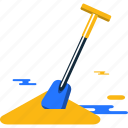 beach, sand, shovel, summer icon