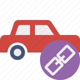 auto, car, link, traffic, transport, vehicle icon