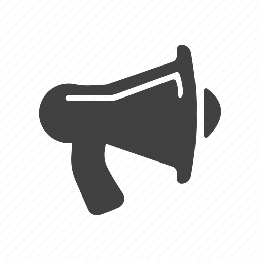 announcement, bullhorn, hailer, loud, megaphone, speaker icon