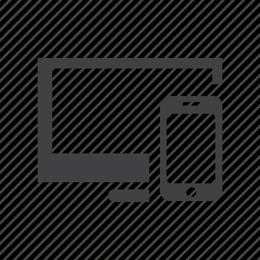 cross, mobile, pc, platform, screencast, share icon