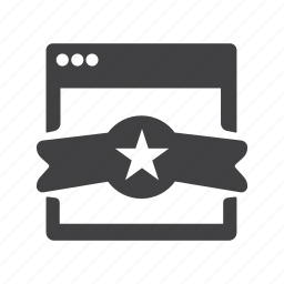 achievement, award, badge, reward, window icon