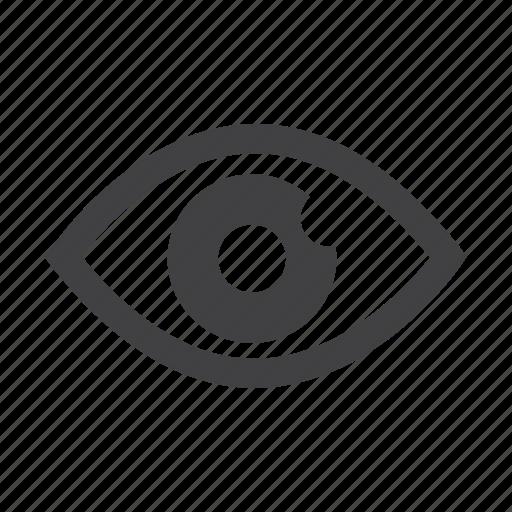 detail, display, eye, look, view icon