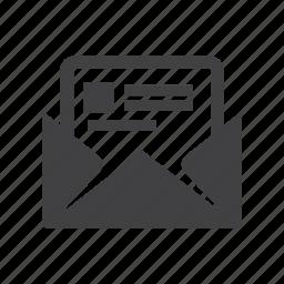 attachment, mail, message icon