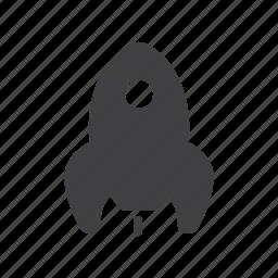 rocket, ship, space, startup icon