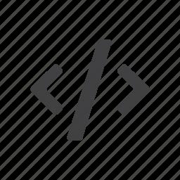brackets, coding, programming, tags icon
