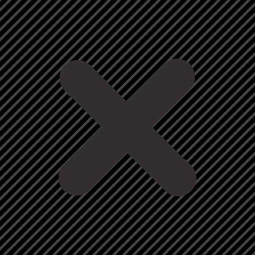 close, cross, delete, exit, no, remove, stop icon