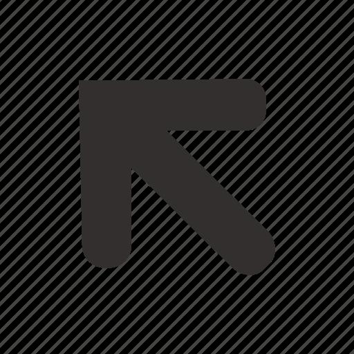 arrow, corner, direction, left, navigation, pin, up icon