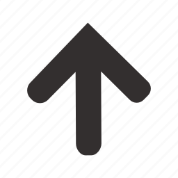 arrow, direction, marker, navigation, pointer, up, upload icon