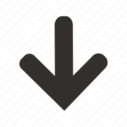 arrow, direction, down, download, marker, navigation, pointer icon