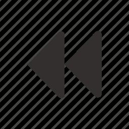 backward, fast, media, multimedia, player, previous, rewind icon